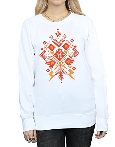 Harry Potter Femme Christmas Fair Isle Sweat-Shirt Blanc