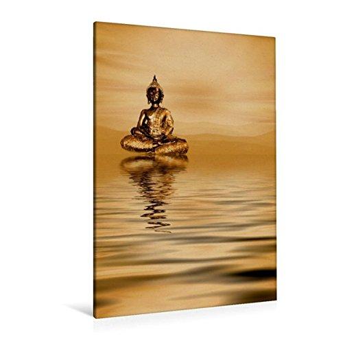 Calvendo Premium Textil-Leinwand 80 cm x 120 cm hoch, EIN Motiv aus dem Kalender Buddha/Planer | Wandbild, Bild auf Keilrahmen, Fertigbild auf echter Leinwand, Leinwanddruck Glaube Glaube