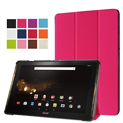 Acer Iconia Tab 10 A3-A40 Housse Etui, Pasonomi® Ultra Slim étui Housse Cuir Coque avec Support pour Acer Iconia Tab 10 A3-A40 Tablette, Rose