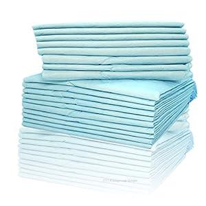 Inkontinenzunterlagen 40 x 60cm Einmalunterlagen Wickelunterlagen Tierunterlagen 6-lagige saugstarke Einmal-Krankenunterlage aus Zellstoff Farbe: blau/weiß von Cardiocell (20)