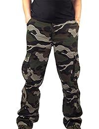 TEBAISE Herren Jogginghose Camouflage Sporthose Fitnesshose Hose Sweatpants  Mehrfarbig Trainingshose Freizeithose Cargo Camo Stoffhose 14fbe21224