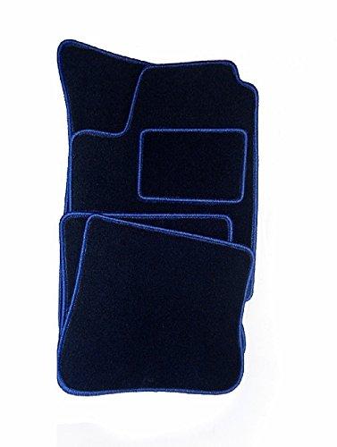 DGS Velours passgenau Autoteppiche DUNKELBLAU fahrzeugspezifisch stoff Automatten Fußmatten premiun Qualität mit Befestigungen BDVMHO005-D