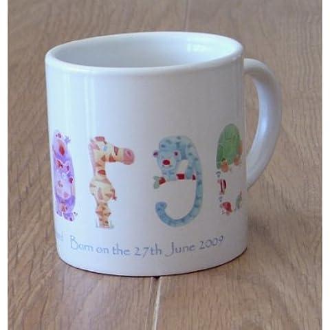 Kids Cup, taza para bebé personalizada letras, Selva, de plástico