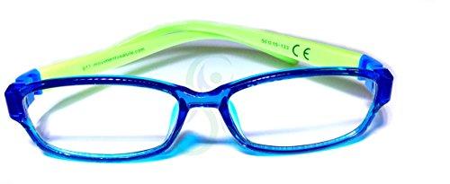 movimento salute occhiali bambino protettivi con lenti neutre, anti luce blu (fino al 41%) e uv (100%) per gioco, tv, tablet, smartphone. eliminano stanchezza e irritazione visiva. prevenzione miopia