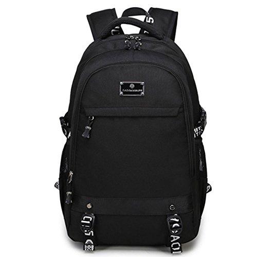 JUND Herren Rucksack Groß Kapazität Schultasche Jungen Schule Daypack Business Laptop Backpack 19 Zoll Wasserdicht