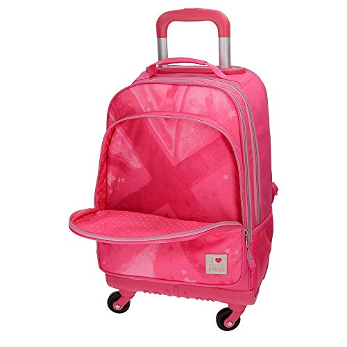 1ea5cf3df4 Pepe Jeans Clea Pink Rolling Backpack 4W