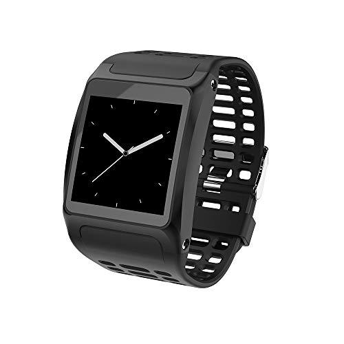 Fulltime E-Gadget Smart Watch,1,3 Zoll Pulsuhr Armband IP67 Wasserdichte Armband für iOS Android (Schwarz)