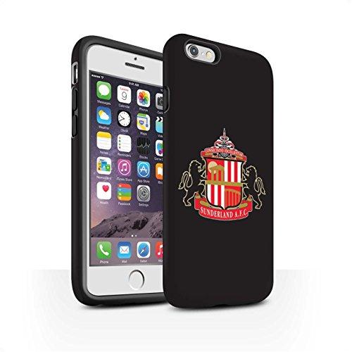 Offiziell Sunderland AFC Hülle / Matte Harten Stoßfest Case für Apple iPhone 6 / Pack 6pcs Muster / SAFC Fußball Crest Kollektion Schwarz