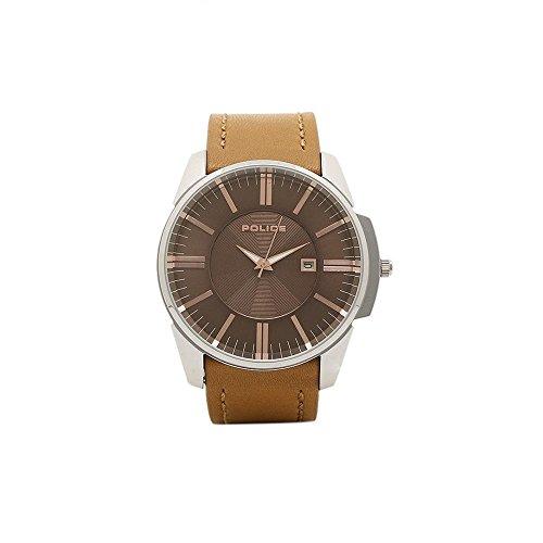 Police Herren Analog Quarz Uhr mit Leder Armband PL14384JS.11
