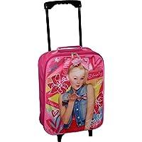 "Nickelodeon JoJo Siwa Girl's 15"" Collapsible Wheeled Pilot Case - Rolling Luggage"