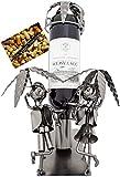 Brubaker - Porte-Bouteille de vin - Vacances/Voyageurs - Métal - Carte de vœux Incluse - Idée Cadeau Originale - Objet décoratif...