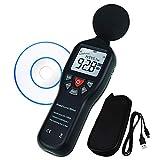 Datenprotokollierung Funktion Dezibel Schallpegelmesser mit Hintergrundbeleuchtung Anzeige Hochgenauigkeits Messung 30 dB ~ 130dB Instrument Compact Professional (mit CD Software)