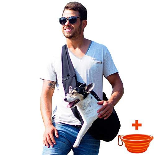 Tragetasche für kleine Hunde und Welpen - Transporttasche / hundetasche für Haustiere bis 6kg - schwarz