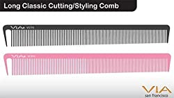 Long Classic Cutting/Styling Comb - Pink (2 Pack)