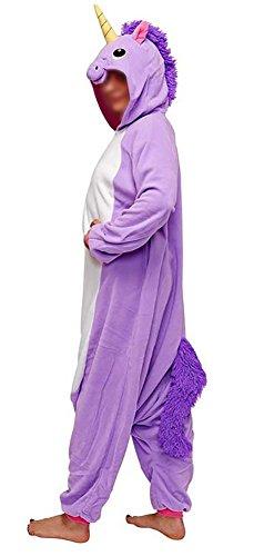 Anebalrui Damen Herren Jumpsuit Overall Fasching Tier Einhorn Kostüm Fasching Anime Cosplay Halloween Karneval Kostüm Schlafanzug Pyjama Erwachsene (M für 156cm-165cm / 61.0