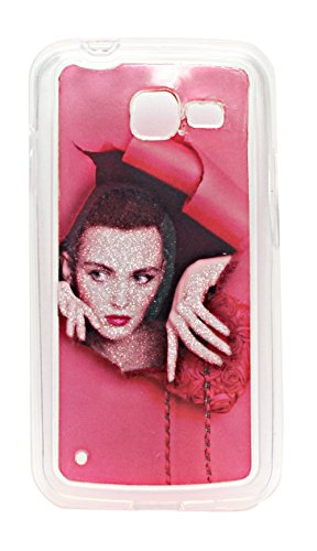 ECellStreet Exclusive Sparkle Soft Back Case Cover Back Cover For Samsung Galaxy Star Pro Duos S7262 - Girl  available at amazon for Rs.164
