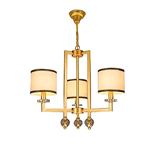 Modern Luxury 3 Head Chandeliers, Stylish Gold Ceiling Light for Living Room, Bedroom, Study