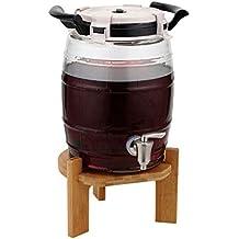 XAJGW Dispensador de Cerveza, Licor Decanter Pump Dispenser Machine con contenedor de Hielo Incorporado para