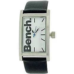 Bench Men's Black Strap White Dial Watch (228399322)