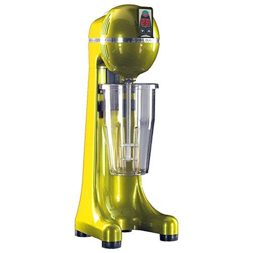 Johny AK/2-2T-RAL-TIMER-Y - Batidora de bebidas de 2 velocidades (para hacer frappe - frapiera), fabricada en Grecia, amarillo