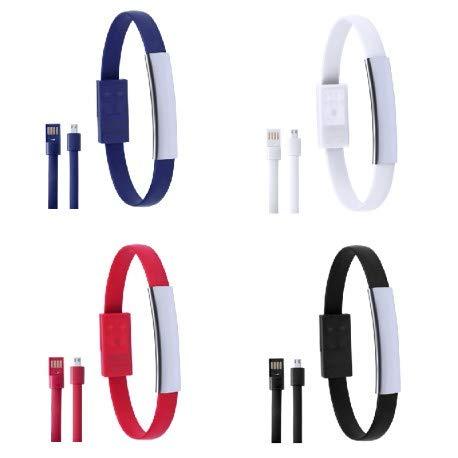Lote de 20 Pulsera Micro USB Datos para Cargar Teléfonos presentada en...