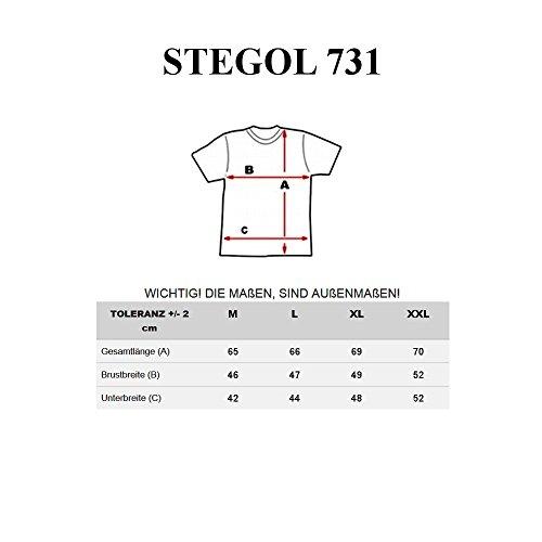 BOLF T-Shirt Kurzarm Motiv Freizeit Print Aufdruck Old School 3C3 Men STEGOL 731 Dunkelblau
