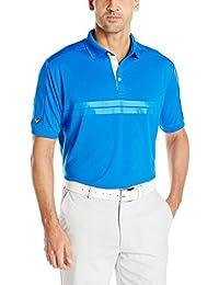 Callaway Men's Golf Short Sleeve Embossed Athletic Polo Shirt