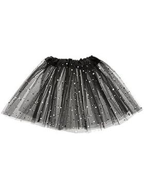 Kid niñas todos los código Dancewear falda tutú de ballet vestido de Pettiskirt ropa de malla encaje corto vestido...