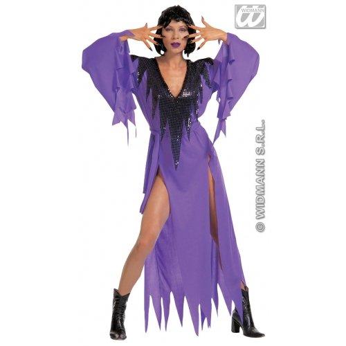 Frau -Kostüm in Damengrößen 38/40, bestehend aus Kleid, Handschuhe aus Samt, Halskette mit Edelsteinen (40/42) ()