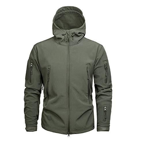 Tarnung Shjzom Einfarbig Tactical Men Sharkskin Softshell Herbst Winter Oberbekleidung Militär Bekleidung US Army Jacket Coat OD S Wool Field Coat