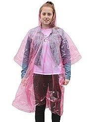 Femme homme poncho à capuche imperméable d'urgence (lot de 10)