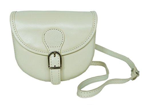 Elegante Echt Leder Trachtentasche mit Fleur des Lys fürs Dirndl - Rindsleder (Beige)