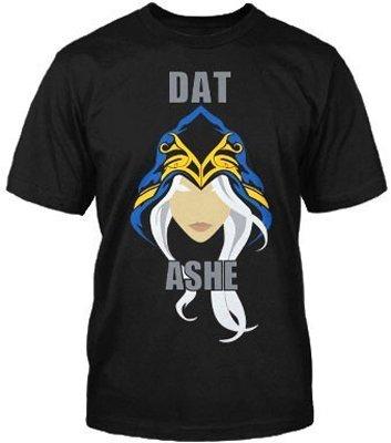 League of Legends - camiseta de Ashe, la Arquera de Hielo - para jugadores - negra - L