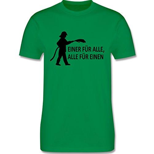 Feuerwehr - Einer für alle, alle für einen - Herren Premium T-Shirt Grün