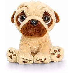 Peluche pequeño Pugsley Pug juguete suave 14 cm