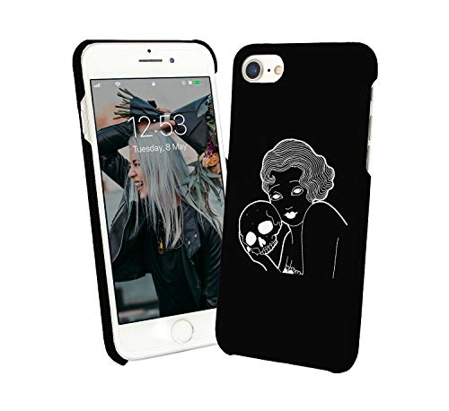 Black Widow Holding Skull_005547 Phone Case Cover Handyhulle Handyhülle Handy Hülle Schutz for Huawei P9l Lite Funny Gift Christmas