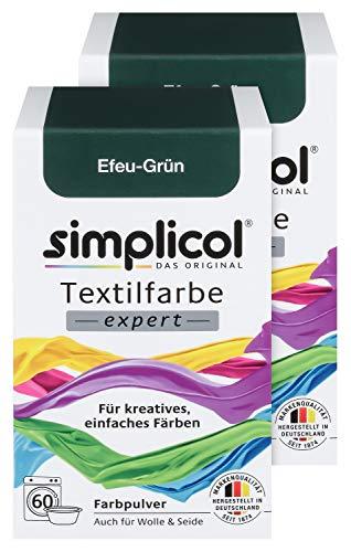 e expert Efeu-Grün 1713, 2er Pack: Farbe für kreatives, einfaches Färben in der Waschmaschine oder manuell ()