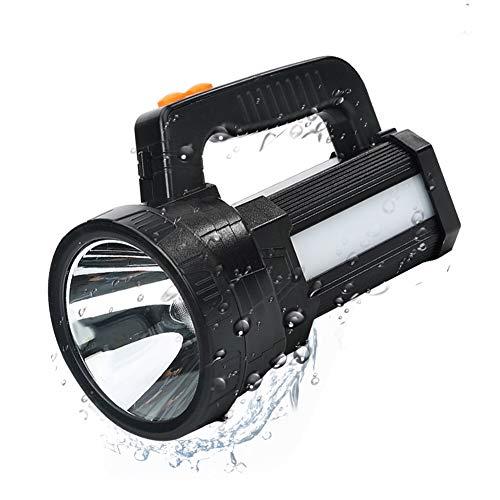 Lampe Torche LED Rechargeable Etanche IPX4, LED 3 en 1 Puissante 9600mAH, Lampe Camping Projecteur Portable, Lampe de Poche Rechargeable pour Randonnée Camping - Ceinture et Chargeur Fournis