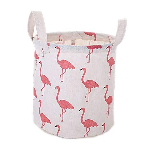 cool show Aufbewahrungskörbe für Kleinkinder und Spielzeug, zusammenklappbar, Vliesstoff, Flamingos White Big, Big