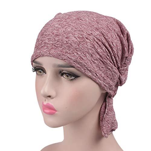 (Frauen Muslimische Kopftuch, Tukistore Damen Krebs Chemo Hygiene Alopezie Make-up Hut weich Baumwolle Bandana Turban Kopfbedeckung Mütze)