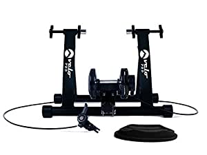 Velo Pro Magnetic Turbo Trainer Variable Resistance Indoor Bike Trainer for Road and Mountain Bicycles (Black)