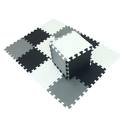 xmtmmd Life Soft Play Mats für Kinder Pure Colour EVA-Schaum Mats Bodenbelag jiasaw Puzzle Mats 18PCS AM101104112G301018