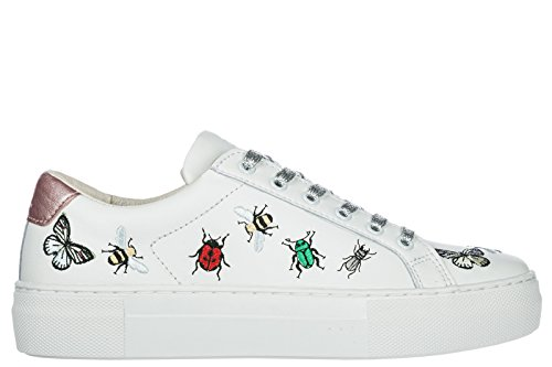MOA Master of Arts Chaussures Baskets Sneakers Femme en Cuir Victoria Bugs Blanc