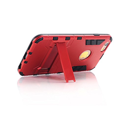 Custodia iPhone 6S Plus,iPhone 6 Plus copertura,[Heavy Duty]Corpo duro protettivo Armour Duro Layer ibrido PC + TPU con armadio [Shockproof] Case cover per iPhone 6S Plus /6 Plus,rosso rosso