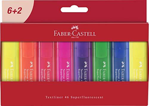 Faber-castell 254667textmarker textliner 1546, strati di custodia a portafoglio, 8penne