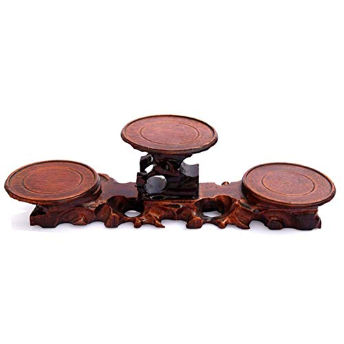Ericcay Vase Boden Holz Schnitzereien Bonsai Stent Einfacher Stil Jade Regalen Teekanne Sitz Root Carving Boden Holz 8 5X3 2X3 15 Inch (Color : Colour, Size : 12.8X3.2X3.15) -