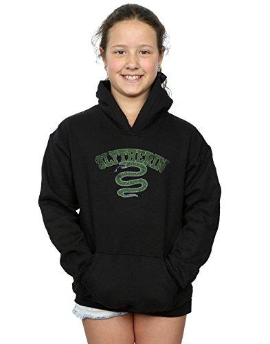 Harry Potter Mädchen Slytherin Sport Emblem Kapuzenpullover 12-13 years (Hoodie Gir)