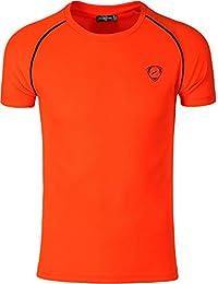 Jeansian Hombres Deportes Wicking Quick Dry Respirable Corriente Training TeeT-shirt Sport Slim Tops LSL182 ZMqkZ
