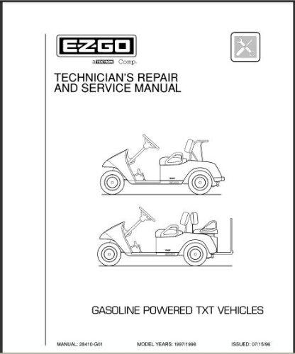 E-Z-GO EzGo 28410G011997–1998Techniker 's Service und Reparatur für Gas TXT Golf Cars & Persönlichen Fahrzeuge