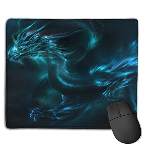 Mouse Pad Cool Dragon Neon Shadows Rectangle Rubber Mousepad 8.66 X 7.09 Inch Gaming Mouse Pad with Black Lock Edge (Shadow Man-pc)
